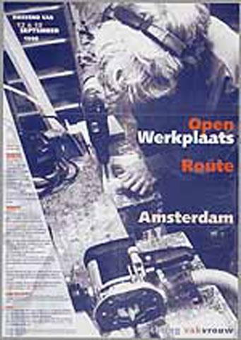 Affiche voor de open werkplaats route